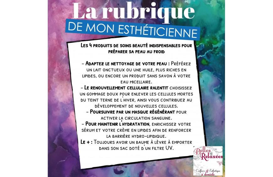 LA RUBRIQUE DE MON ESTHETICIENNE
